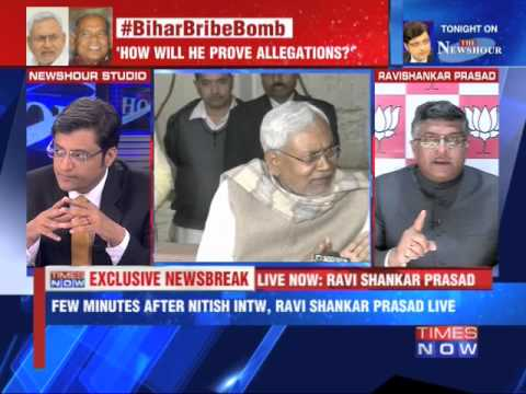 Nitish didn't Name Anyone In The Interview : Ravi Shankar Prasad