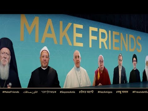"""ONE WORLD RELIGION ~ Religious Leaders calling for """"FRIENDSHIP"""" between People of all """"RELIGIONS"""""""