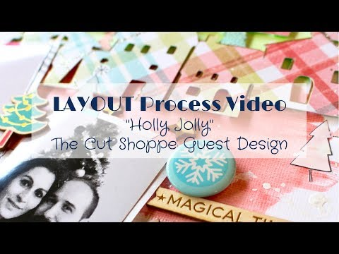 [ENG] Scrapbooking layout #014 / Tutorial / THE CUT SHOPPE Guest Design / Holly Jolly MP3
