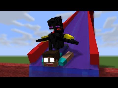 Monster School: Water Slide - Minecraft Animation
