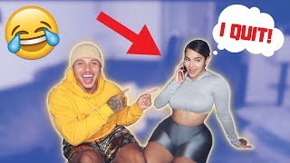 PRANK CALLING JOBS WE DON'T WORK AT & TELLING THEM WE QUIT!! ** HILARIOUS **