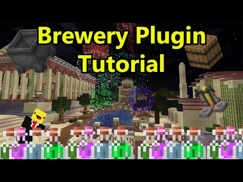 Minecraft Brewery Plugin Tutorial  - (Beer, Vodka, Alcohol) - Minecraft 1.15