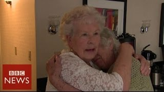 Record breaking twins meet after 78 years apart - BBC News
