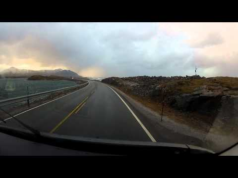 Driving On The Atlantic Ocean Road In Norway