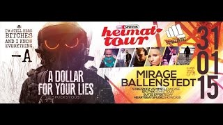 Zahni vs Kannadiss @ A Dollar for your Lies / Sputnik Heimattour / Mirage Ballenstedt 31.01.2015
