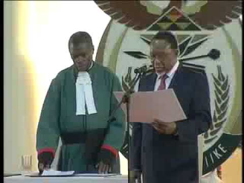 Swearing in of the President, Deputy Preident, and Ministers in The Presidency