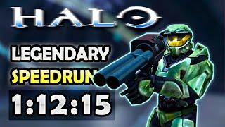 Halo: CE Done in 1:12:15 - Legendary Speedrun
