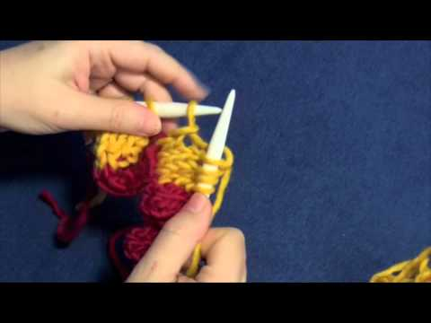 Entrelac Knitting Part Six- Top Triangles - YouTube