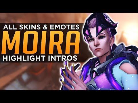 Overwatch: All Moira Skins, Emotes, Sprays & Highlight Intros