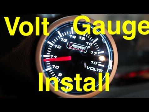 How do you hook up a volt gauge