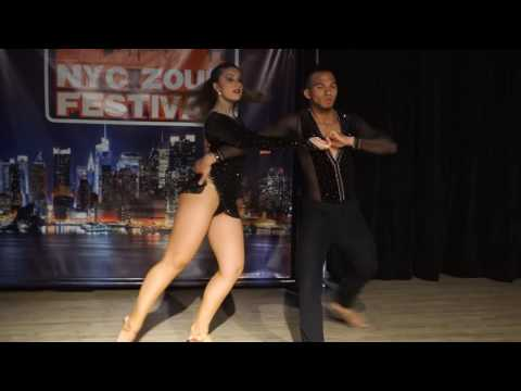 00132 NYCZF2016 Layssa and Arthur ~ video by Zouk Soul