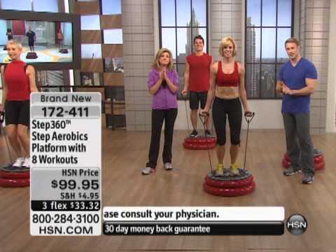 Step360 Step Aerobics Platform with 8 Workouts