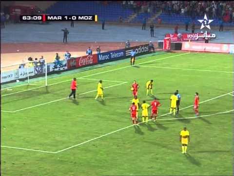 Maroc Mozambique 2-0: But Houcine Kharja (المغرب الموزمبيق - هدف خرجة)