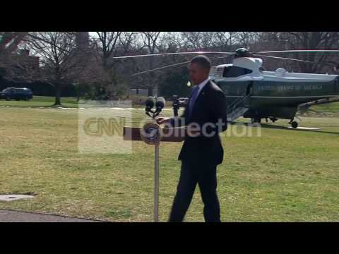 OBAMA:WALK-UP ON WHITE HOUSE SOUTH LAWN