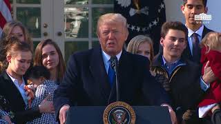 President Trump Addresses March for Life Participants and Pro-Life Leaders