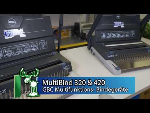 Multifunktions- Bindegerät, Drahtbindemaschine GBC MultiBind 320 & 420. Link zu den MultiBind: http://bindemaschinen.ch/index.php?cPath=7_10_11 / FREMA Schlä...