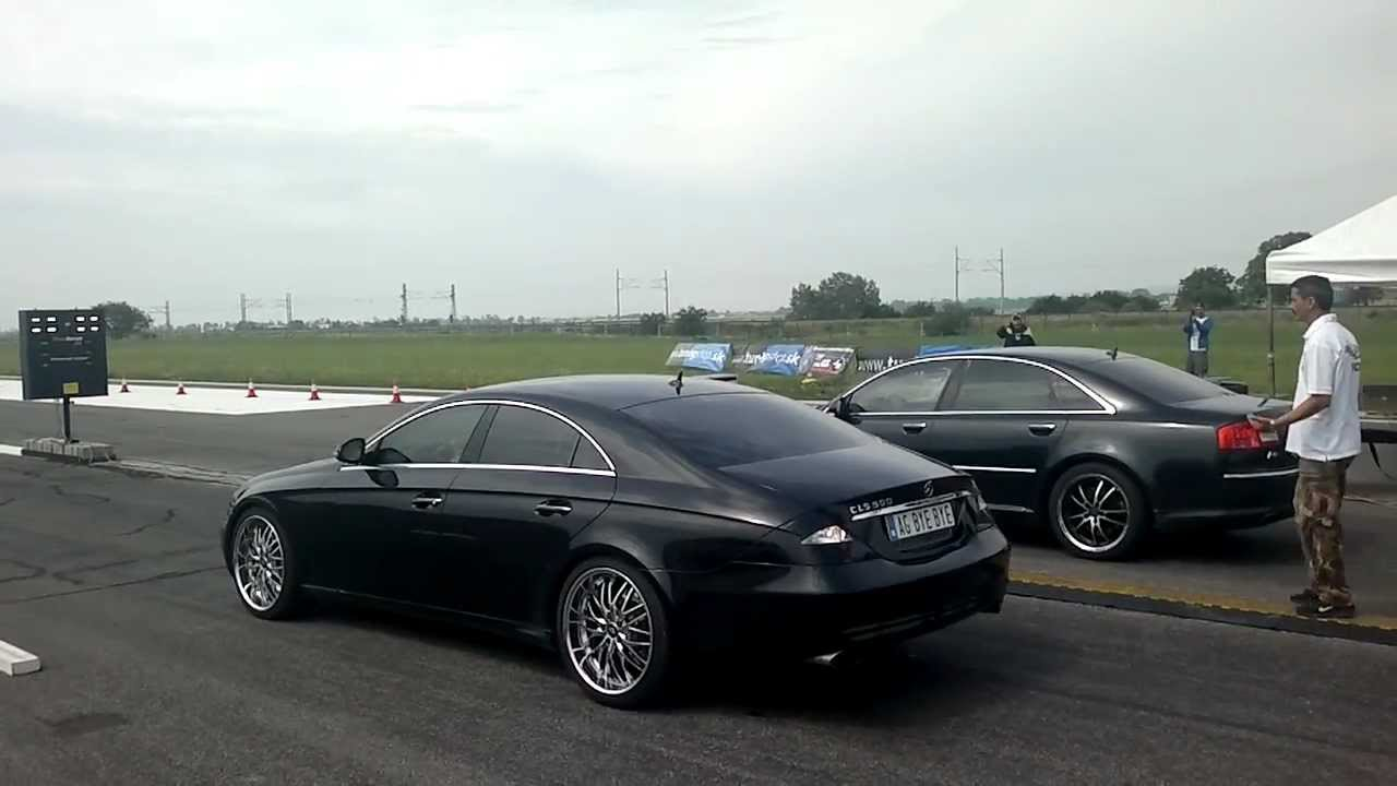 Audi A8 W12 vs. Mercedes CLS - YouTube