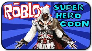 Roblox Super Hero Tycoon - Sneak Attacking Everyone - Assassin's Creed Gameplay