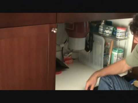 do it yourself video to fix your leaking garbage disposal