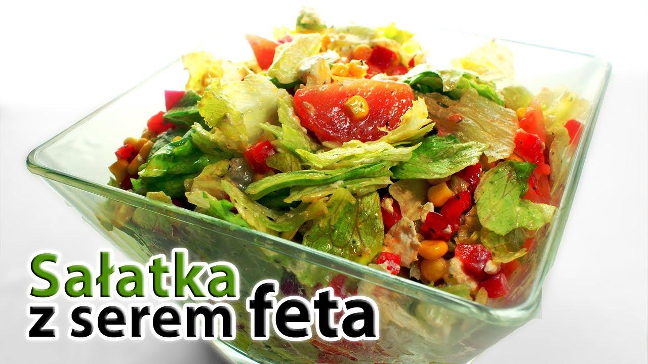 Salatka Grecka z Feta sa Atka z Serem Feta