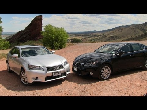 2013 Lexus GS 350 vs GS450h 0-60 MPH Mashup Review