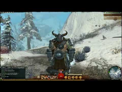 Guild Wars 2 level 36 Norn Warrior Gear and Gameplay