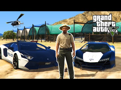 GTA 5 PC Mods - PLAY AS A COP MOD! LAMBO POLICE CARS & ARRESTING PEOPLE! (GTA 5 Mods)