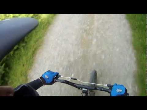 BMX downhill, Dublin Mountains. PoV