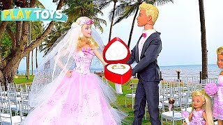 Just Married! 🎀 Barbie Doll and Ken Wedding Day Party!