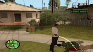 GTA San Andreas pee,sit,puke and smoke mod