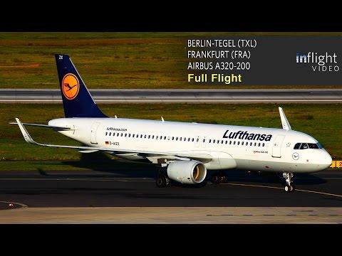 Lufthansa A320 Full Flight - Berlin Tegel to Frankfurt