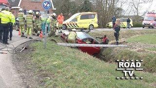 Aanrijding en auto te water Westbroek 17 03 2018