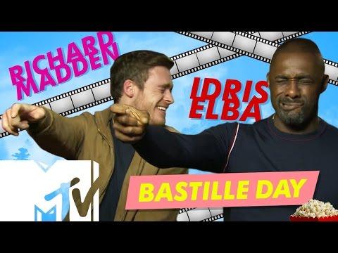 Idris Elba & Richard Madden Behind The Scenes BASTILLE DAY, Paris Rooftop Action | MTV