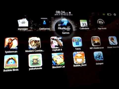PlayBook Actualizacion 2.0 y juegos gratis