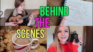 BTS of my ukulele tutorials + my basic filming setup for youtube!????