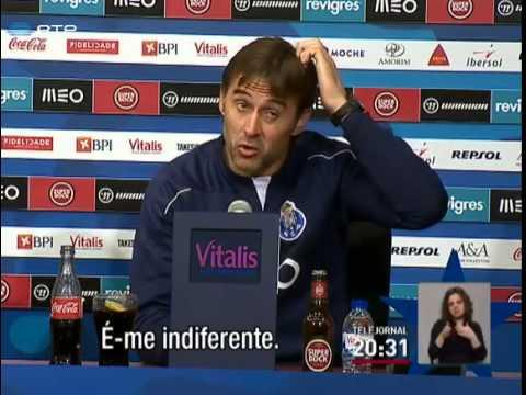 Julen Lopetegui não admite que jogadores pensem na Champions
