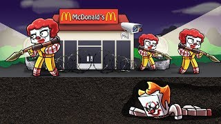Minecraft   PENNYWISE SNEAKS INTO MCDONALDS! (Mcdonalds Secure Base)