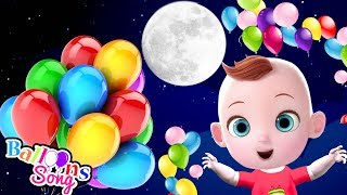 Balloon Song For Kids - Funny Babies Plays With Giant Balloon | Nursery Rhymes & Children Songs