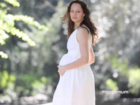 Bella white maternity dress by Happymum.London