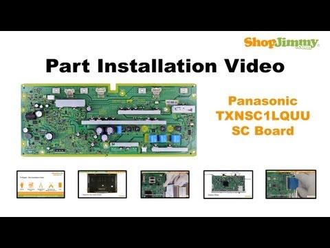 Panasonic TC-P50 TX-P50 TXNSC1LQUU SC Boards Replacement Guide for Panasonic Plasma TV Repair