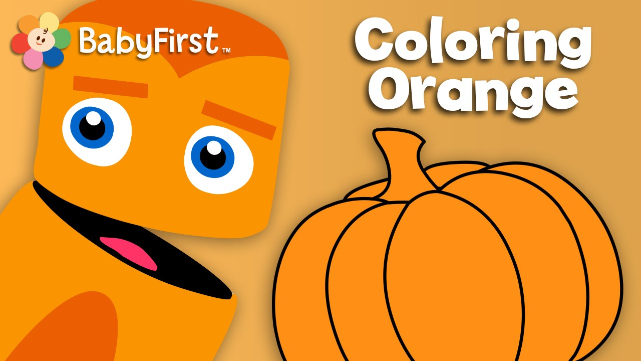 Babyfirsttv color crew learn colors orange color for Orange colour things