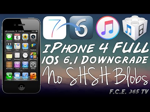 iPhone 4 - Full Downgrade From iOS 7.1.2 to iOS 6.1 No SHSH Blobs Required + Proofs