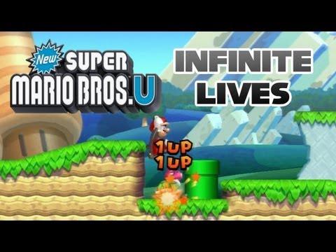 """New Super Mario Bros U: Infinite Lives - Acorn Plains 1: """"Acorn Plains Way"""""""
