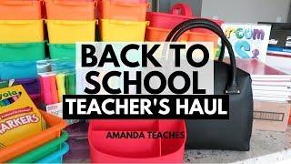 Teacher Back to School Haul - Target Tjmaxx Office Depot Walmart