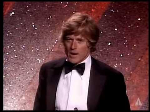 Robert Redford ‪winning the Oscar® for Directing