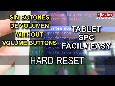 Tablet SPC Glee 10.1 Quad Core Hard Reset How to Restore Factory Settings Recovery Unlock Password