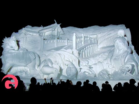 Chilling out at the SAPPORO SNOW FESTIVAL