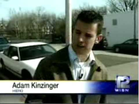 Adam Kinzinger saves woman's life/Milwaukee TV report