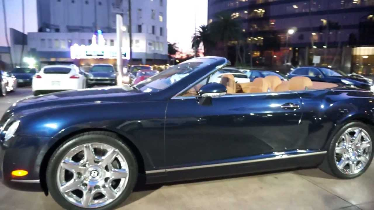2008 Bentley Continental Gt Convertible Mulliner Blue On