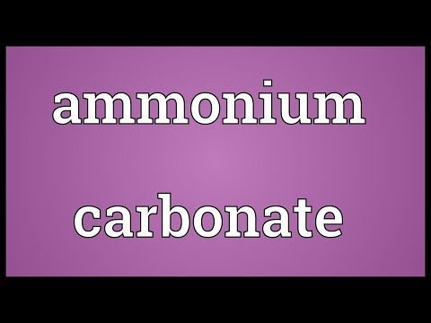 Header of Ammonium Carbonate